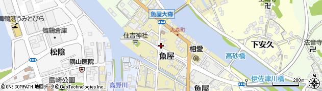 京都府舞鶴市魚屋周辺の地図