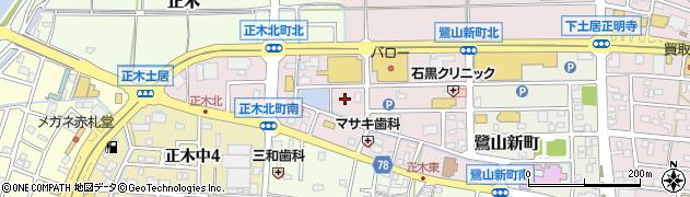 岐阜県岐阜市正木北町周辺の地図