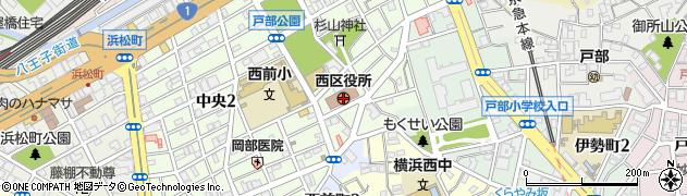 神奈川県横浜市西区周辺の地図