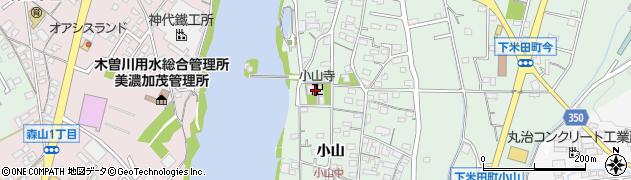 小山寺周辺の地図