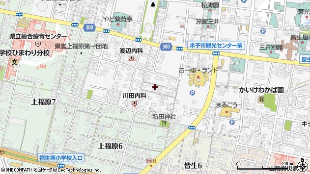 〒683-0001 鳥取県米子市皆生温泉の地図