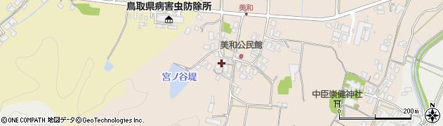 鳥取県鳥取市美和周辺の地図