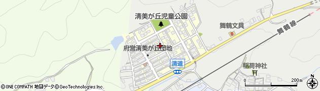 京都府舞鶴市清美が丘周辺の地図