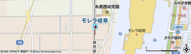 岐阜県本巣市周辺の地図