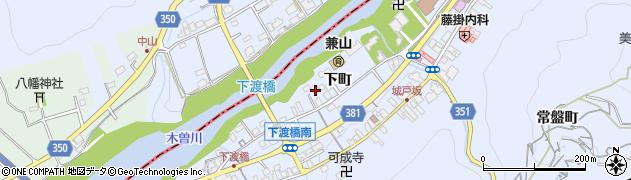 岐阜県可児市兼山(下町)周辺の地図