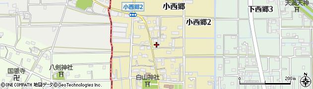 岐阜県岐阜市小西郷周辺の地図