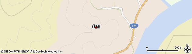 京都府舞鶴市八田周辺の地図