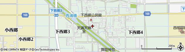 岐阜県岐阜市下西郷周辺の地図
