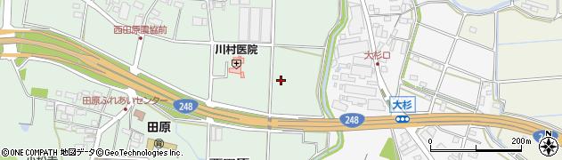 岐阜県関市西田原周辺の地図