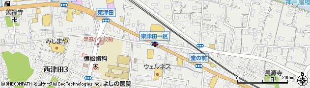 東津田一区周辺の地図