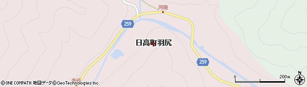 兵庫県豊岡市日高町羽尻周辺の地図