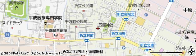 岐阜県岐阜市折立周辺の地図