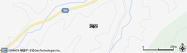 鳥取県鳥取市洞谷周辺の地図