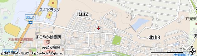 岐阜県岐阜市北山周辺の地図