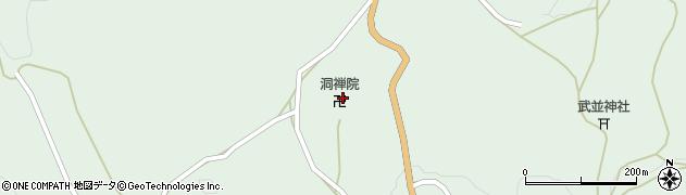 洞禅院周辺の地図