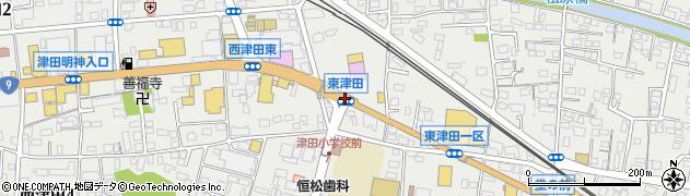 東津田周辺の地図