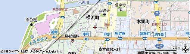 島根県松江市横浜町周辺の地図
