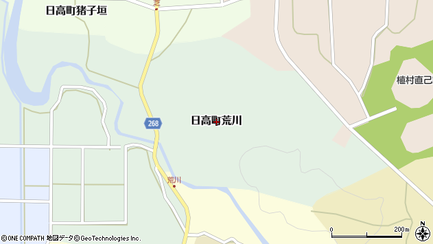 〒669-5356 兵庫県豊岡市日高町荒川の地図
