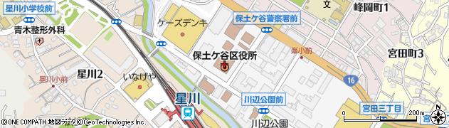 神奈川県横浜市保土ケ谷区周辺の地図