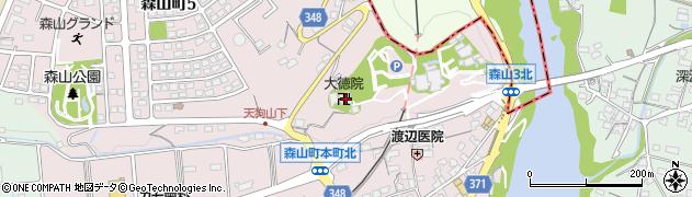 大徳院周辺の地図