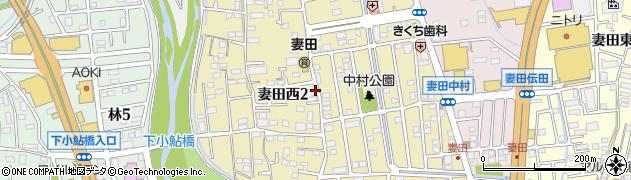 神奈川県厚木市妻田西周辺の地図