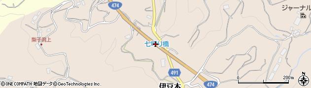 七呼り橋周辺の地図