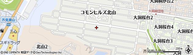 岐阜県岐阜市コモンヒルズ北山周辺の地図