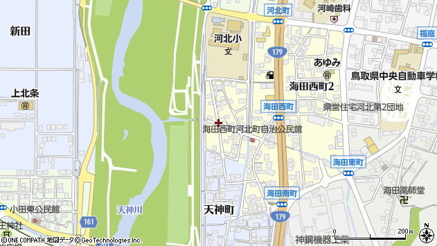 〒682-0016 鳥取県倉吉市海田西町の地図