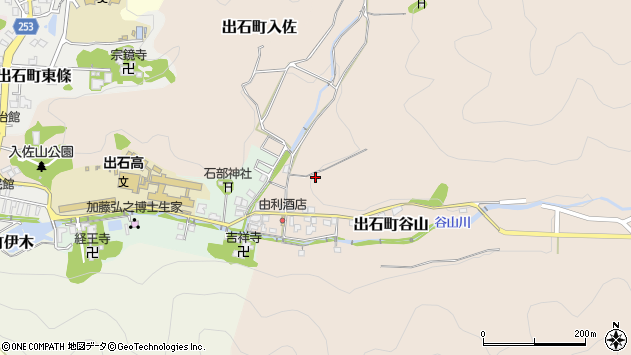 〒668-0212 兵庫県豊岡市出石町谷山の地図