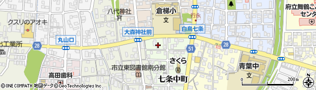 京都府舞鶴市倉梯中町周辺の地図