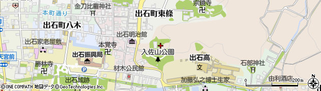 兵庫県豊岡市出石町入佐周辺の地図