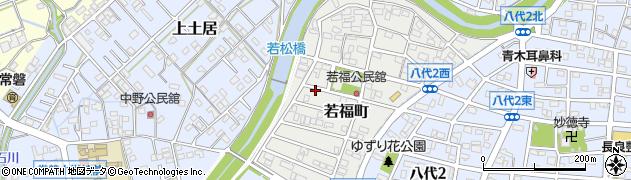 岐阜県岐阜市若福町周辺の地図