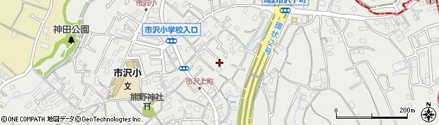 神奈川県横浜市旭区市沢町周辺の地図