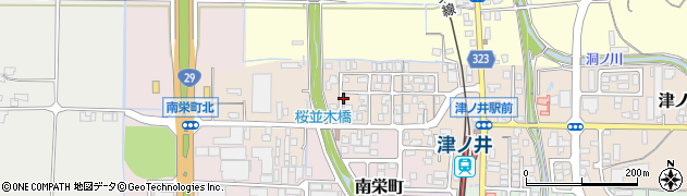 鳥取県鳥取市津ノ井周辺の地図