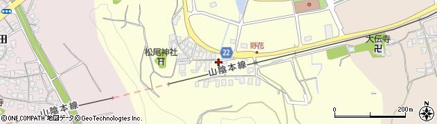 鳥取県湯梨浜町(東伯郡)野花周辺の地図