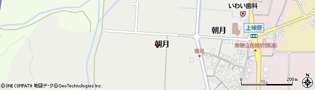 鳥取県鳥取市朝月周辺の地図