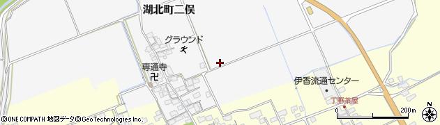 滋賀県長浜市湖北町二俣周辺の地図