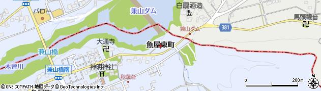 岐阜県可児市兼山(魚屋東町)周辺の地図