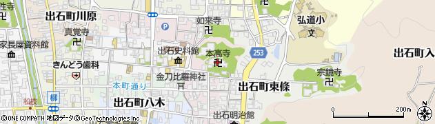 本高寺周辺の地図