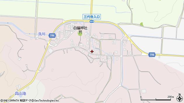 〒680-0154 鳥取県鳥取市国府町三代寺の地図