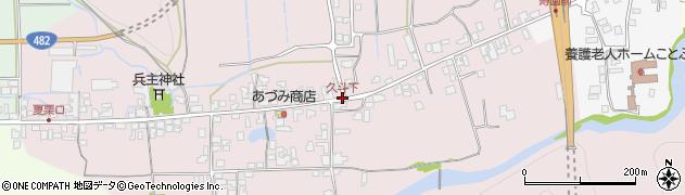 久斗下周辺の地図