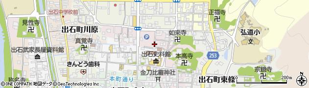 兵庫県豊岡市出石町鉄砲周辺の地図