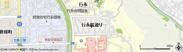 京都府舞鶴市行永桜通り周辺の地図