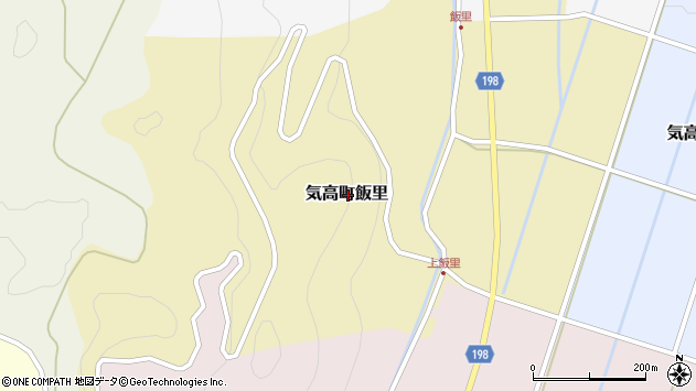 〒689-0343 鳥取県鳥取市気高町飯里の地図