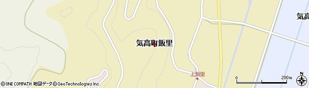 鳥取県鳥取市気高町飯里周辺の地図