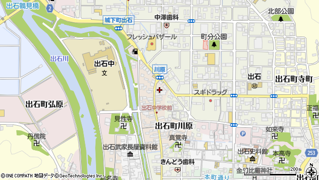 〒668-0231 兵庫県豊岡市出石町川原の地図