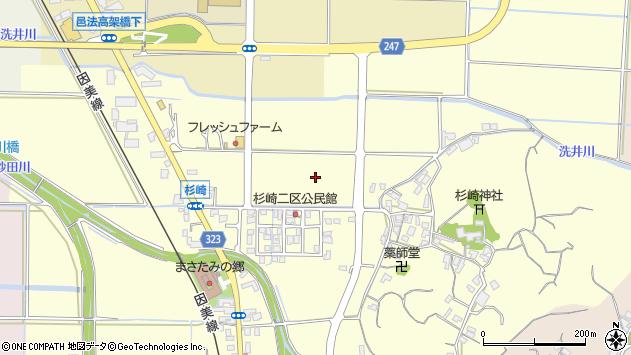 〒689-1101 鳥取県鳥取市杉崎の地図