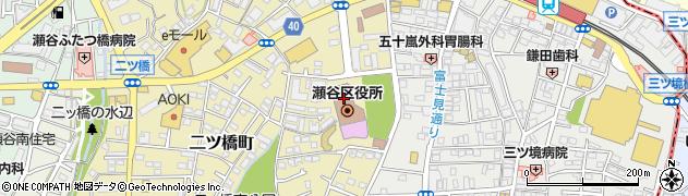 神奈川県横浜市瀬谷区周辺の地図