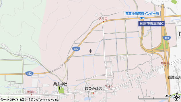 〒669-5342 兵庫県豊岡市日高町久斗の地図