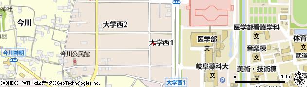 岐阜県岐阜市大学西周辺の地図